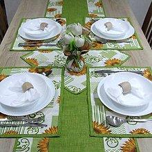 Úžitkový textil - Slnečnice na smotanovej(2) - prestieranie 30x40 - 9720050_