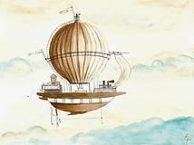 - Air balloon III, fantasy, ilustrácia, obraz - 9717188_
