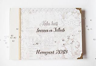 "Papiernictvo - Svadobná kniha hostí "" gold "" - 9717336_"