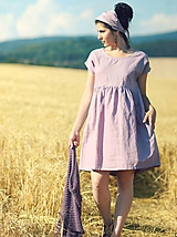 - Mauve šaty lněné (M) - 9719201_