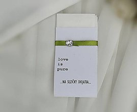 Darčeky pre svadobčanov - Svadobné vreckovky (Zelená) - 9720238_