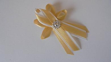 Pierka - Svadobné pierko -zlaté - 9716940_
