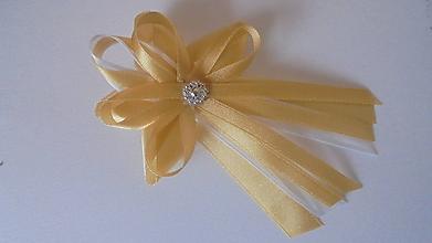 Pierka - Veľké svadobné pierko-zlaté - 9716943_
