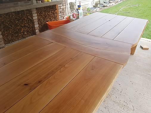 6dec49030bf1 Masívny čerešňový stôl   gilly - SAShE.sk - Handmade Nábytok