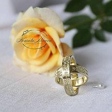 Prstene - obrúčky s folklórnym ornamentom - Bratislava (žlté zlato) - 9718728_