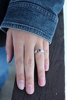 Prstene - strieborný folklórny prsteň - MODROTLAČ (Striebro 925) - 9718907_