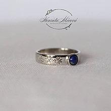 Prstene - strieborný folklórny prsteň - MODROTLAČ (Zlato 585) - 9718915_