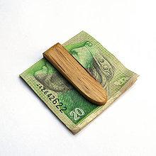 Tašky - Špaltovaná buková spona na peniaze - 9717742_