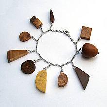 Náramky - Retiazkový náramok s drievkami - 9718687_