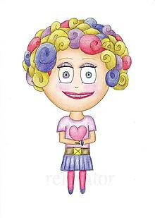Kresby - Darovať srdce - kresba dievča 2 - 9717144_