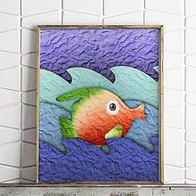 Grafika - Ako ryba vo vode na papieri (2) - 9718382_