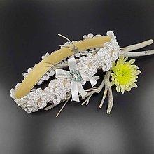 Bielizeň/Plavky - Wedding Lace Collection ... podvazek - 9721708_