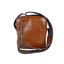 Iné tašky - Kožená taška cez rameno