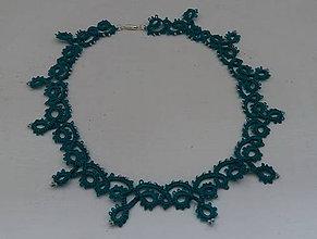 Náhrdelníky - Frivolitkový náhrdelník - 9721369_