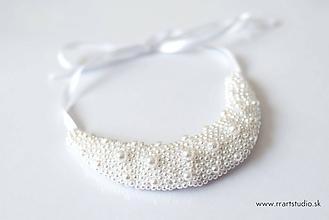 Náhrdelníky - Biely náhrdelník - 9722199_