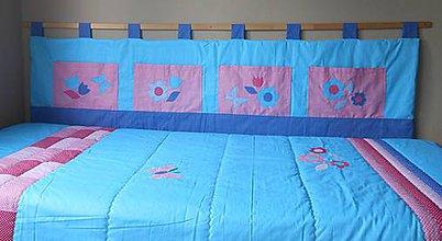 Úžitkový textil - Zástena Modro-ružová - 9720820_