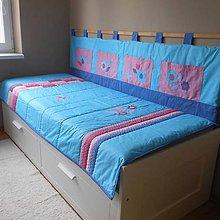 Úžitkový textil - Komplet Modro-ružový - 9720834_