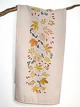 - Obrus na stôl-štóla-ručne maľovaná-jesenná - 9722858_