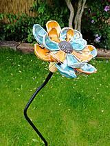 Dekorácie - Kvet do záhrady modrý - 9721913_