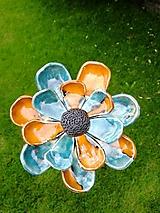 Dekorácie - Kvet do záhrady modrý - 9721915_