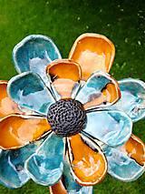 Dekorácie - Kvet do záhrady modrý - 9721916_
