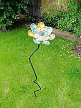 Dekorácie - Kvet do záhrady modrý - 9721918_