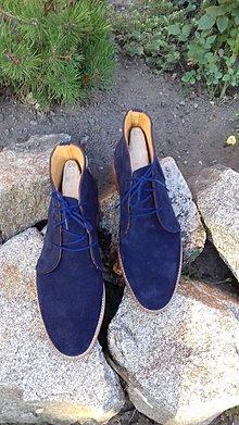 Obuv - Hand made pánské kožené topánky - 9723239_