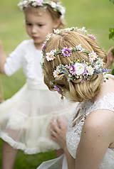 Ozdoby do vlasov - Svadobný polvenček ružový - 9720433_