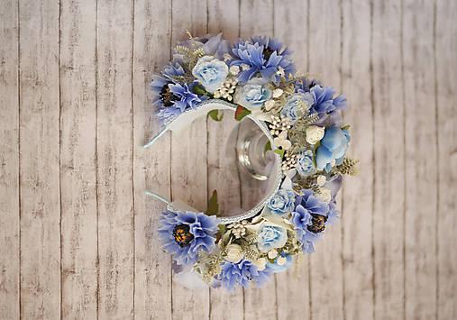 Svadobná kvetinová parta z kolekcie pre Lydiu Eckhardt