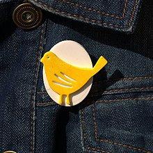 Odznaky/Brošne - Brošňa žltý Vtáčik - 9722230_