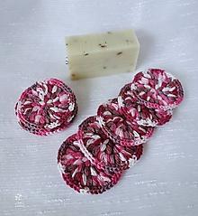 Drobnosti - Háčkované odličovacie tampóny v ružových odtieňoch - 9722603_