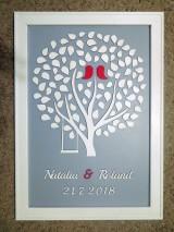 - svadobná kniha hostí/drevený strom 18 - 9720696_