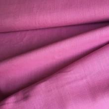 Textil - 100 % ľan ružovofialový, šírka 140 cm, cena za 0,5 m - 9721710_