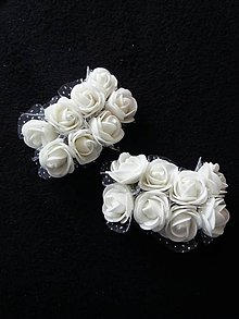Iný materiál - Dekoračné penové ružičky - 9721194_