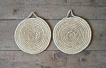 Pomôcky - Ručne pletená podložka z palmových listov - 9723253_