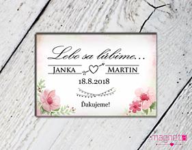 Darčeky pre svadobčanov - Svadobné magnetky - lebo sa ľúbime - 9722185_