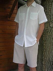Oblečenie - Pánska košeľa z gázoviny - 9722903_