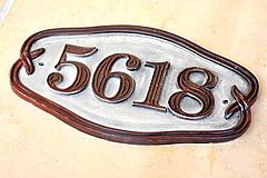 Tabuľky - Číslo domu z keramiky - 9721179_