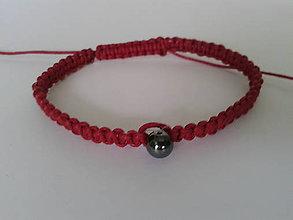 Náramky - Červený ochranný náramok - škorpión - 9721383_