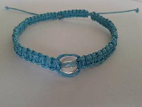 Náramky - Modrý ochranný náramok - váha - 9721626_
