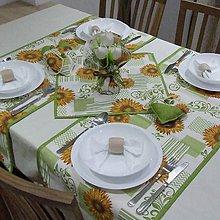 Úžitkový textil - Slnečnice na smotanovej - šerpa naprieč stola 120x36 - 9722909_