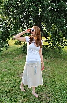 Sukne - Ľanová - maľovaná - 9720399_