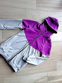 Tehotenské oblečenie - Mikina na nosenie dieťatka-fialová - 9723165_