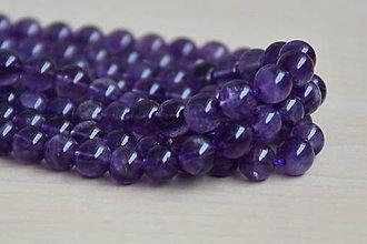 Minerály - Ametyst purple 6mm, 0.16€/ks - 9720816_