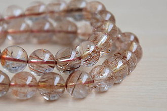 Minerály - Sagenit (venušine vlasy) 10mm, 1.30€/ks - 9720829_