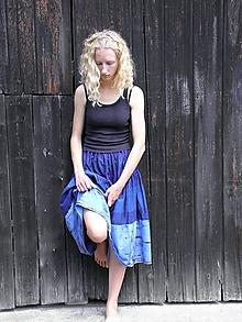 Sukne - Midi volánová sukňa - modro fialová S - XL - 9722540_