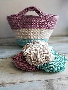 Veľké tašky - Veľká háčkovaná (pastelová) taška - 9724126_