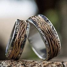 Prstene - Prepletené cesty osudu /kombi + patina/ - 9723637_