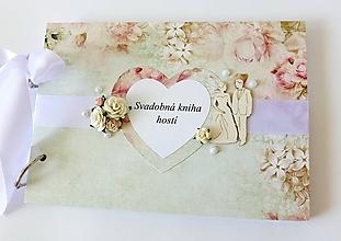 Papiernictvo - svadobná kniha hostí - 9723895_