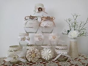 Svietidlá a sviečky - Recy natur svietniky súdkovité - 9724794_